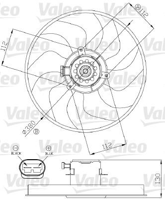 Ventilateur, refroidissement du moteur - VALEO - 696288