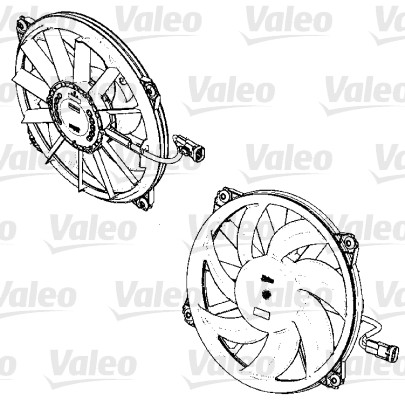 Ventilateur, refroidissement du moteur - VALEO - 696326