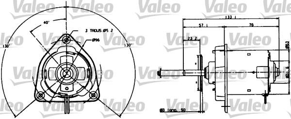 Moteur électrique, ventilateur pour radiateurs - VALEO - 698004