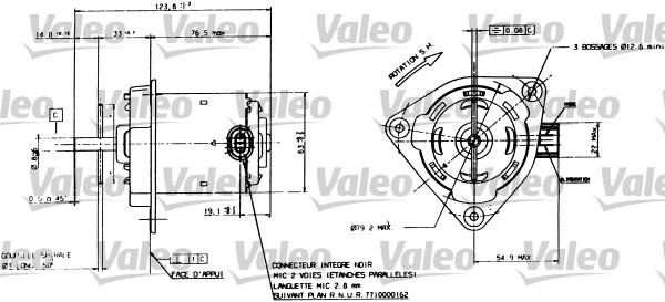 Moteur électrique, ventilateur pour radiateurs - VALEO - 698084