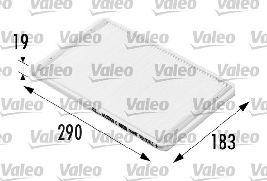 Filtre, air de l'habitacle - VALEO - 698149