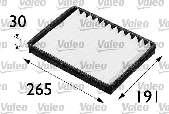 Filtre, air de l'habitacle - VALEO - 698163