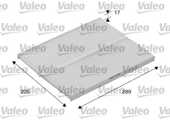 Filtre, air de l'habitacle - VALEO - 698167