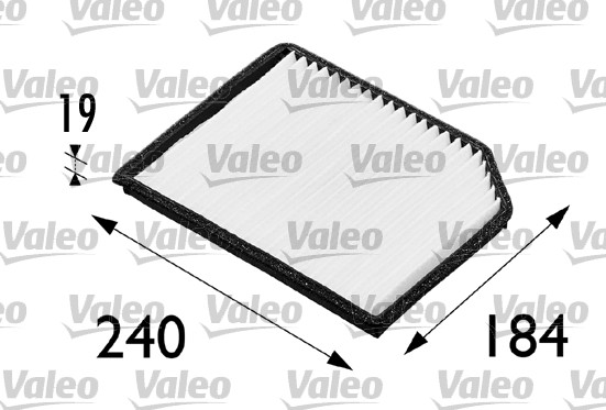 Filtre, air de l'habitacle - VALEO - 698173