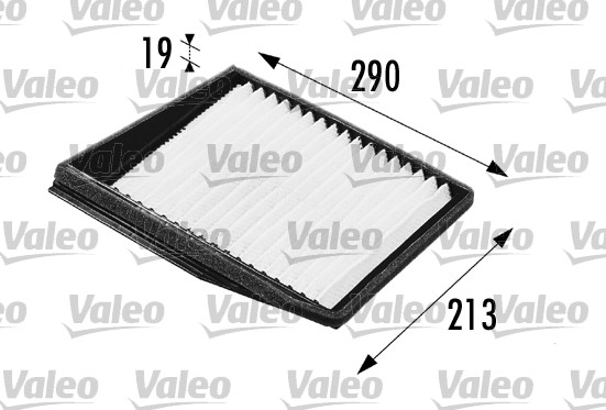 Filtre, air de l'habitacle - VALEO - 698176