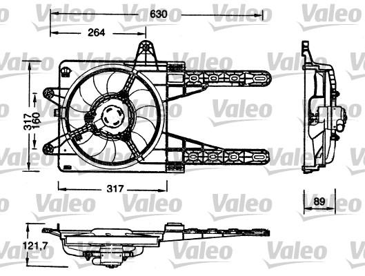 Moteur électrique, ventilateur pour radiateurs - VALEO - 698178