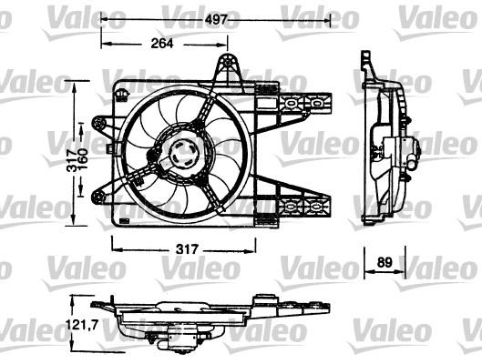 Moteur électrique, ventilateur pour radiateurs - VALEO - 698179