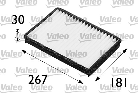 Filtre, air de l'habitacle - VALEO - 698235