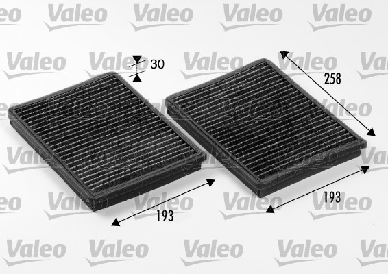 Filtre, air de l'habitacle - VALEO - 698246