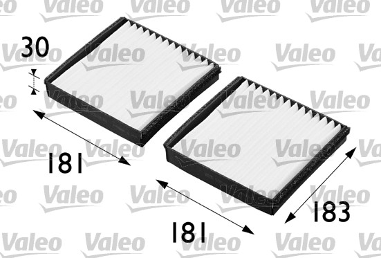 Filtre, air de l'habitacle - VALEO - 698290