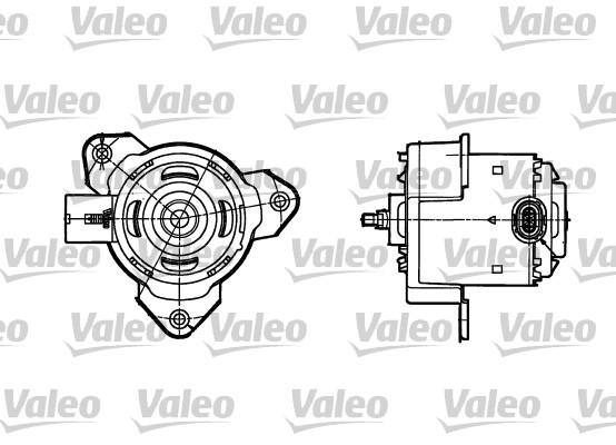 Moteur électrique, ventilateur pour radiateurs - VALEO - 698302
