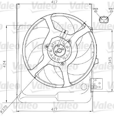 Ventilateur, refroidissement du moteur - VALEO - 698313