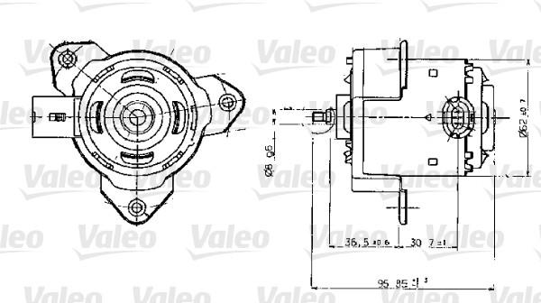 Moteur électrique, ventilateur pour radiateurs - VALEO - 698317