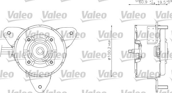 Moteur électrique, ventilateur pour radiateurs - VALEO - 698338
