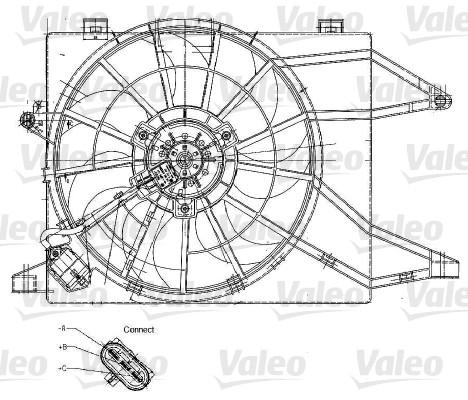 Ventilateur, refroidissement du moteur - VALEO - 698344