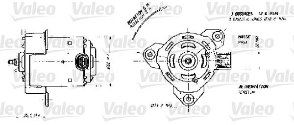 ventilateur moteur electrique  pales de ventilateur pour