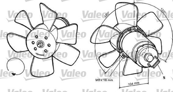Ventilateur, refroidissement du moteur - VALEO - 698368