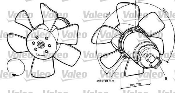 Ventilateur, refroidissement du moteur - VALEO - 698369