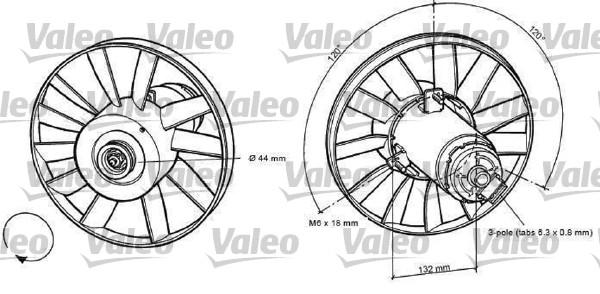 Ventilateur, refroidissement du moteur - VALEO - 698371