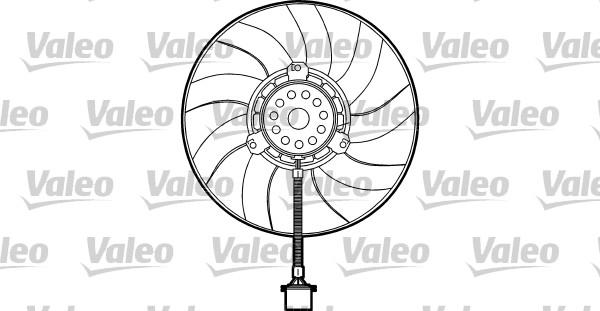 Ventilateur, refroidissement du moteur - VALEO - 698373