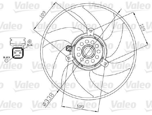 Ventilateur, refroidissement du moteur - VALEO - 698375