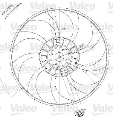 Ventilateur, refroidissement du moteur - VALEO - 698412
