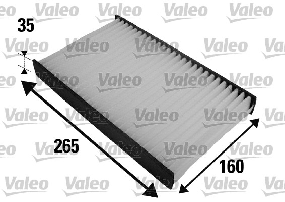 Filtre, air de l'habitacle - VALEO - 698454