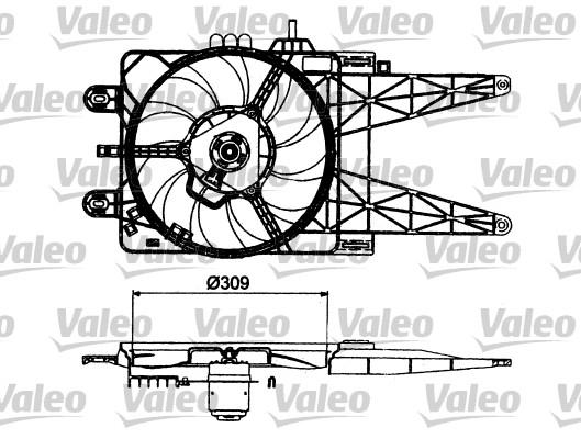 Moteur électrique, ventilateur pour radiateurs - VALEO - 698483