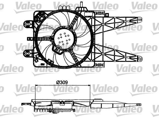 Moteur électrique, ventilateur pour radiateurs - VALEO - 698484