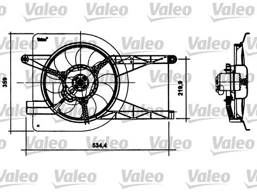 Moteur électrique, ventilateur pour radiateurs - VALEO - 698493