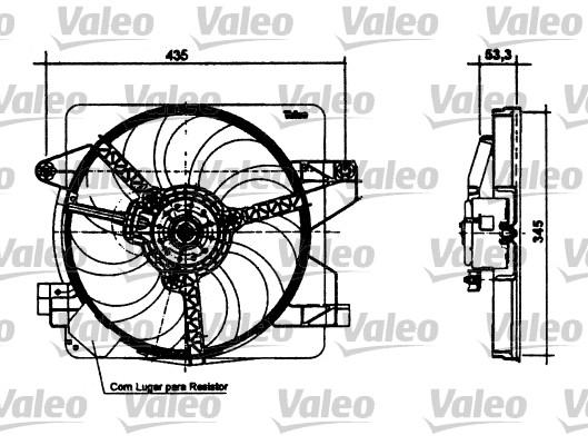 Moteur électrique, ventilateur pour radiateurs - VALEO - 698494