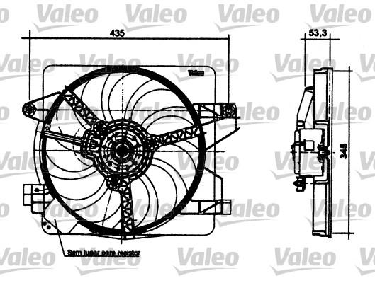 Moteur électrique, ventilateur pour radiateurs - VALEO - 698496