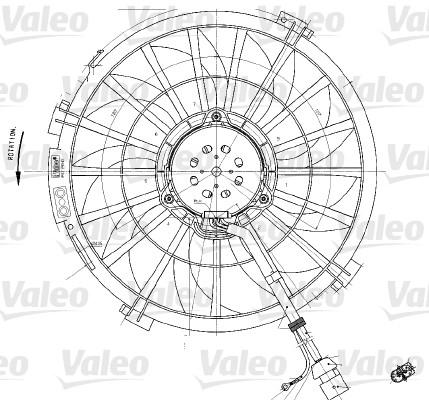 Ventilateur, refroidissement du moteur - VALEO - 698542