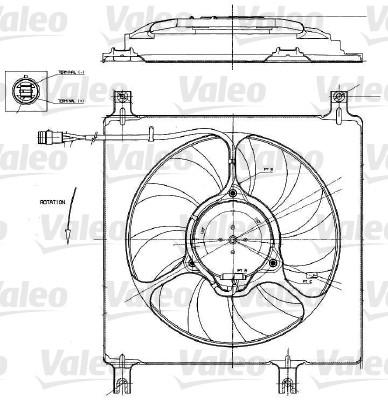 Moteur électrique, ventilateur pour radiateurs - VALEO - 698552