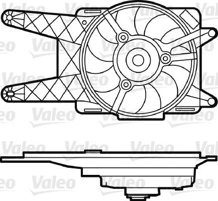 Moteur électrique, ventilateur pour radiateurs - VALEO - 698562