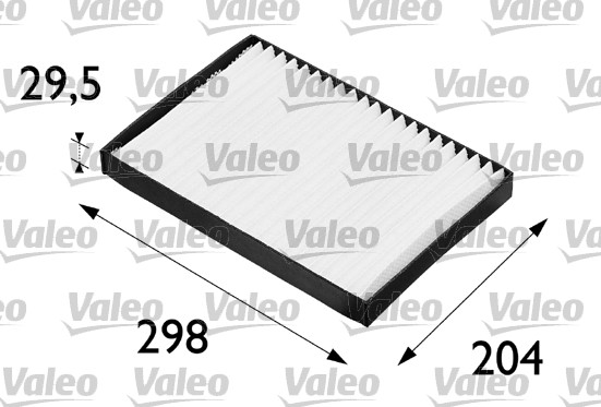 Filtre, air de l'habitacle - VALEO - 698606
