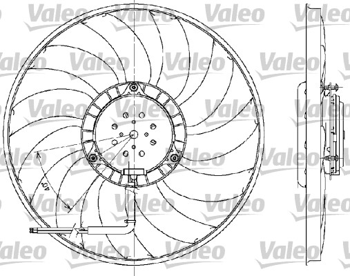 Ventilateur, refroidissement du moteur - VALEO - 698609