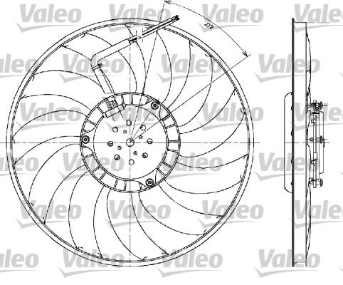 Ventilateur, refroidissement du moteur - VALEO - 698610