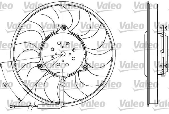 Ventilateur, refroidissement du moteur - VALEO - 698611