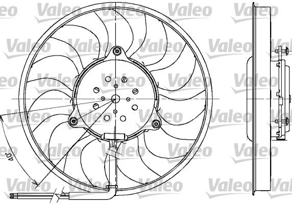 Ventilateur, refroidissement du moteur - VALEO - 698612
