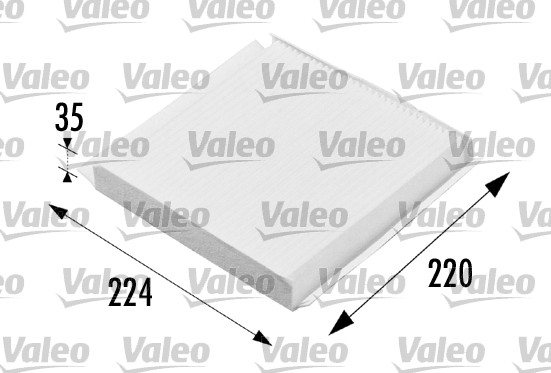 Filtre, air de l'habitacle - VALEO - 698657