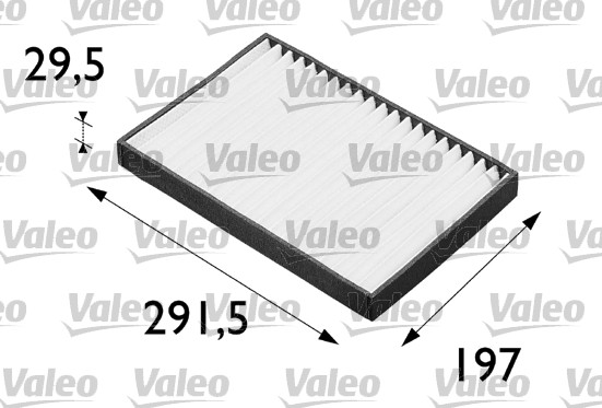 Filtre, air de l'habitacle - VALEO - 698662