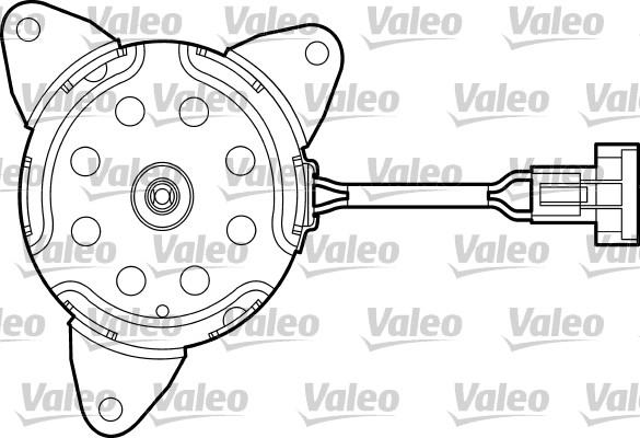 Moteur électrique, ventilateur pour radiateurs - VALEO - 698669