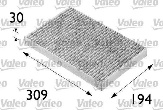 Filtre, air de l'habitacle - VALEO - 698682