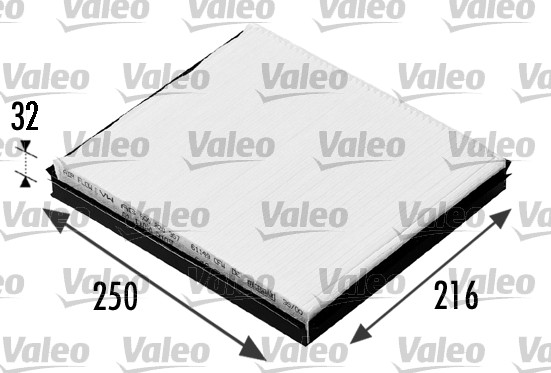 Filtre, air de l'habitacle - VALEO - 698685