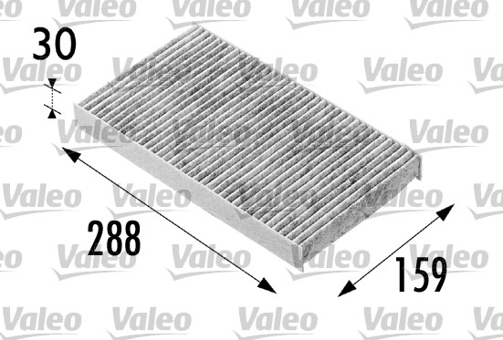 Filtre, air de l'habitacle - VALEO - 698687