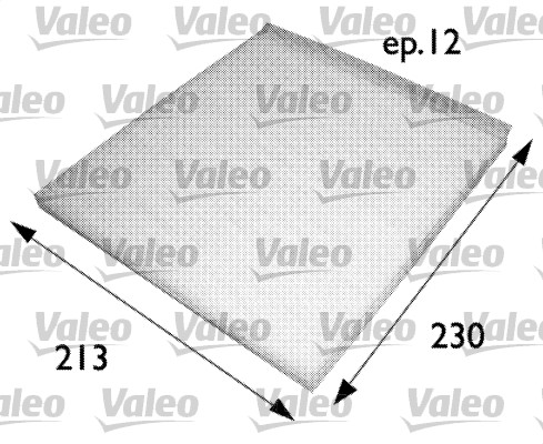 Filtre, air de l'habitacle - VALEO - 698691