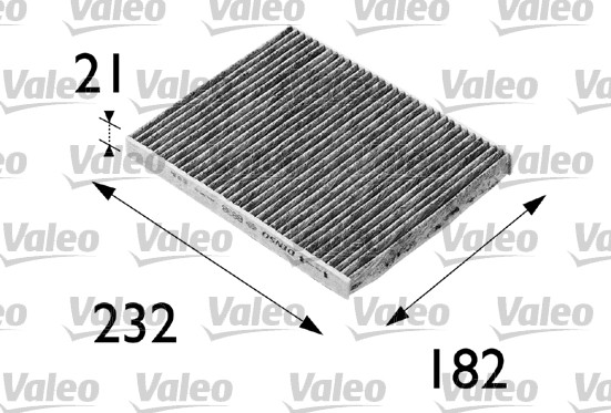 Filtre, air de l'habitacle - VALEO - 698692
