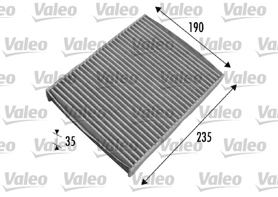 Filtre, air de l'habitacle - VALEO - 698693