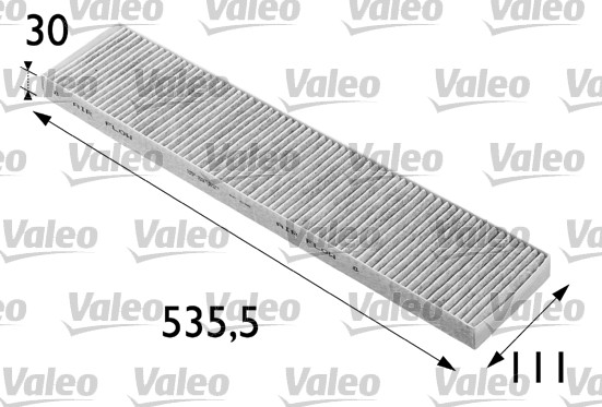 Filtre, air de l'habitacle - VALEO - 698696